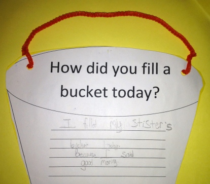 How did you fill a bucket today?
